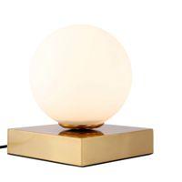 Lampe de bureau LED Light Table E14 Lampe de table en verre créatif abat-jour blanc de bureau simple, la lumière des lampes décoration de la personnalité