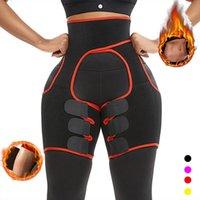 Yumdo неопрена Пот тела Shaper Ноги Shaper для похудения Fat Control Корректирующее белье для женщин Пояс поддержки ноги стройнее Уменьшить Обертывания T200526