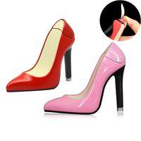 Haute talons Lady mignon Chaussures Briquet Personnalité Creative Gas Butane femmes Briquets pour Décoration Collection Cigarette