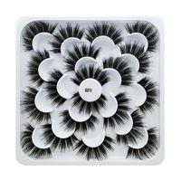 جديد 10 أزواج فو 3d المنك الرموش الطبيعية طويل الرموش الصناعية ماكياج العين رمش تمديد وهمية المنك جلدة
