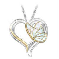 الأزياء قلادة القلب قلادة الفراشة الشخصية دائما قلادة مجوهرات عيد الأم الحيوان قلادة القلائد للمرأة أمي هدية سحر