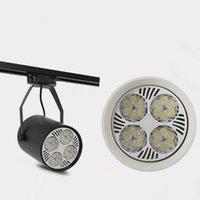 화이트 / 블랙 주도 트랙 조명 35W 따뜻한 차가운 흰색 천장 레일 트랙 조명 스포트 라이트는 집에 의류 숍 AC110-240V위한 할로겐 램프를 교체
