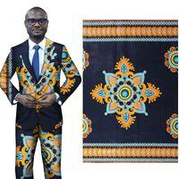новый этнический стиль 100% хлопок набивные ткани обычная геометрическая печать ткань African платье юбка набор ткани оптовой