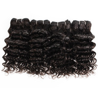 4 ADET Hint Derin Kıvırcık Saç Dokuma 50g / PC Doğal Renk Kısa Bob Style Demetleri için Siyah İnsan Saç Uzantıları