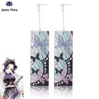 Аниме Demon Slayer Kochou Shinobu серьги бабочки серьги Косплей Prop 1 пара Косплей Accessores