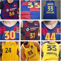 Homem Basketball Lassa 30 Victor Claver Jerseys Leandro Bolmaro Ante Tomic Alex Abrines Pierre Oriola Rolands Smits Liga Endesa Euroleague