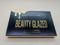 Beauty Glazed Gold Cosmetics Birthday Edition 6pcs Set Lipgloss Original Cosmetics Matte Liquid Lipstick Lipgloss Lip Gloss Kit