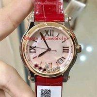 NR Фабрика Бриллиантовые часы Счастливые бриллианты Часы 2892 Автоматическое движение сапфировое стекло перламутровый циферблат 18К розового золота