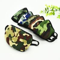 Sport de protection Masque Mascherine double couche Masques Camo Patternsanti poussière bouche Anti Droplet Saliva respirateurs pour l'extérieur 1RY E1