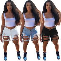 زائد الحجم 2xl الصيف النساء الأزرق الجينز السراويل الأزياء الشرابة الدنيم السراويل العصرية غسلها ممزق الثقوب السراويل عارضة مصمم جينز السراويل 3182
