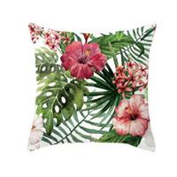 Tropische Pflanze Dekorative Kissenbezug Polyester Sofa Kissen Fall Blatt Geometrie Hochzeit Dekoration Stuhl