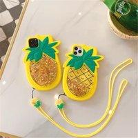 Жидкий Quicksand ананас фрукты с талреп Силикон Смешные Симпатичные сотовый телефон чехол для Iphone 11 Pro 6 6s 7 8 плюс хз хз макс Хг