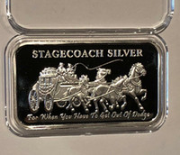 Stagecoach Silver Bar America One oncia 999 di argento placcato della moneta Bars spedizione Stagecoach Silver Bar libero