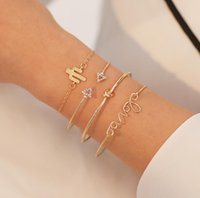 Hi_kenty Hot Sale Jewelry Set letter LOVE Geometry Knotted B...