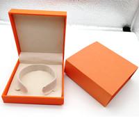 وصول جديد سوار أزياء اللون البرتقالي H الأصلي المربع البرتقالي الحقائب والمجوهرات هدية مربع للاختيار