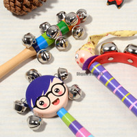 Chocalhos Brinquedos Mão recém-nascida Sinos brinquedos do bebê 0-12 meses dentição infantil Desenvolvimento seguro primeiros educacionais chocalhos Brinquedos