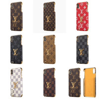 Custodia in pelle per PC retro placcato elettrolitico Fashion Designer PU Custodia in pelle per IPhone X XS MAX XR 8 7 6s Plus per IPhoneX 7plus 8plus