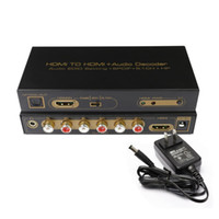 Freeshipping HDMI a HDMI Optical + 6RCA + 3.5mm Audio Extractor Splitter 5.1 Decoder audio
