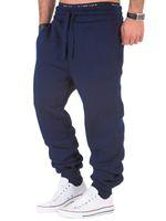 Мужские брюки с твердыми мужчинами Основные пробежки осенью мужские брюки повседневные спортивные штаны Jogger упругие спортивные залы фитнес тренировки