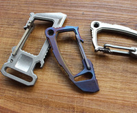 Titanium TC4 Multi EDC Key Chain Opener Crowbar Self- defense...