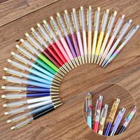 Studenti colorati penne a sfera di cristallo fai da te bianco penna a sfera della penna scolastica firma firma penna a sfera BH2542 TQQ