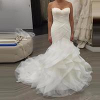 Мода русалка свадебные платья невесты платье длинный поезд Vstido de casamento длина пола свадьба Dodowess на заказ