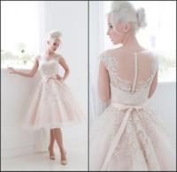 Новые 2020 Короткие платья Homecoming Невеста Сексуальное кружевное свадебное платье плюс Размер IVORY Vestido de Noiva Curto Prom Cocktail платье