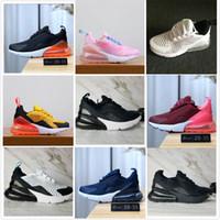 2020 Yeni 27c Hava Yastık Örgü Nefes Çocuk Koşu Ayakkabıları Erkek Kız Genç Çocuk Spor Sneaker Boyutu 28-35