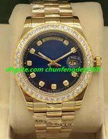 Reloj de lujo de 2 estilos para hombre de oro amarillo de 18 quilates con esfera de diamante / bisel 41mm Pulsera de acero Relojes automáticos de moda para hombre Reloj de pulsera