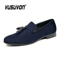 Retro Shoes Men Loafers High Quality Suede Business Shoes fo...