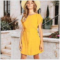 622 Kadın Tulumlar, Günlük Elbiseler, tulum kolsuz elbiseler nuevo estilo vestido para chicas mujeres wt19 ile çiçek elbise etek