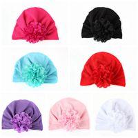 Sombreros de los bebés con el casquillo adorable de la flor rizada de la gasa para el niño pequeño