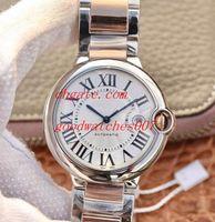 En kaliteli Erkek Casual İzle W69009Z3 Beyaz Kadran 42mm 36mm 33mm Tarih Paslanmaz çelik Band Saatı Adam Otomatik İzle