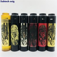 Nuovo stile Slim Piece Mod con kit mod Carnage RDA Side Fire Button Ottone Pei materiale 18650 Batteria 510 mod Vape filo