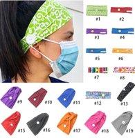 Enmascaran Botón Cinta de cabeza anti-Titular de apriete Máscara Headwrap Orejas Protect enmascaran Correa extensor de Headwear de la venda del pelo de la yoga Pañuelo GGA3348