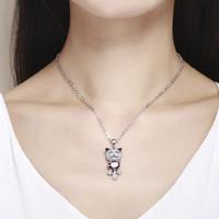 Neue süße Teddybär Anhänger Halskette Frauen Kinder Maxi Colar Schmuck aus Swarovski Elements Kristallen von Swarovski