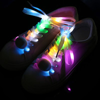 1 par Glow cordones de los zapatos cordones de nylon con correa del partido LED parpadeante cordones accesorios de Navidad Decoración