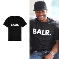 New Balr Stylist T Shirt Hip Hop Mens Stylist T Shirt Moda Mens Donne Manica corta Manica corta T-shirt