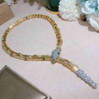 Золотой Высококлассные Змеиные Ожерелье Мода Звезда Интернет Знаменитости Пром Леди Вечеринка Ожерелье Бесплатная Доставка Подарок Свадебное Свадебное Ожерелье Великолепно