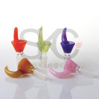14mm 18mm Glasschalen Mit neuer Farbe Perücke Wag Tabak Rauchen Zubehör Glas Bong Schüssel Stück für Glas Wasser Bong Öl Rig Rohre