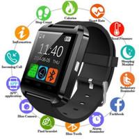 Tela 100pcs U8 Cor Smart Touch Watch Music chamada contagem de passos sono monitoramento de alarme Camera Relógio Bluetooth para: iPhone Samsung Huawei OPPO