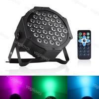 Par Işık 20 W 36 Leds RGB Işın Nokta 7CH DMX512 Kontrol Ses Ile Disko DJ Sahne Aydınlatma Için Aktif Noel Partisi Etkisi ABS DHL