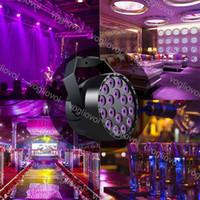 Par Işık UV 18 W 18LED Kontrolörlü Sihirli Etkisi DMX512 Tarafından DMX512 Kontrolü Sahne Aydınlatma için DJ Club Düğün Aile Partisi Disko DHL