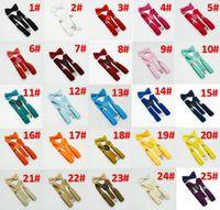 Bambini Bretelle e farfallino Set per 1-10T 32colors bambino bretelle elastiche di Y-back Rosso Rosa Nero Blu accessori Ragazzi Ragazze