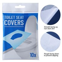 10pcs bag Disposable Toilet Seat Covers Pad Paper Soluble Wa...