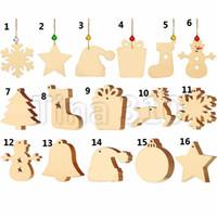 16 видов изысканных деревянных ремесел творческие рождественские украшения праздничные украшения рождественская елка подвески T3I5549
