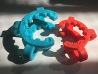 10mm 14mm 19mm En Plastique K-Clips Keck Clip Keck Pinces En Plastique Laboratoire Laboratoire Pince Pince Pour Verre Bong Tuyaux D'eau Adaptateur En Verre Accessoires