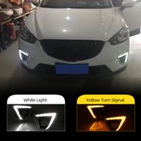 2pcs Vire estilo Signal Relé 12V levou carro drl de circulação diurna com furo luz de nevoeiro para Mazda CX-5 CX5 cx 5 2012 2013 2014 2015 2016