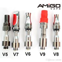 Amigo originale e cigarette Vape cartouches Liberté V1 en verre épais électronique huile cartouche vide Pen Vaporizer Réservoirs .5ml 1ml 510 fil