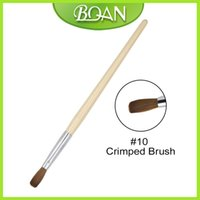 wholesale 1 PCS #10 #12 Nail Art Brush Crimped Brush 100%Kol...